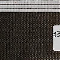 Рулонные шторы День Ночь Ткань Радуга ВМ-1212 Чёрный