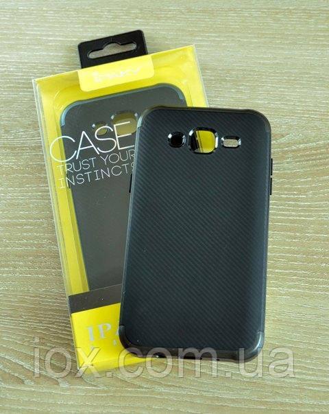 Мягкий черный чехол-накладка IPAKY Carbon для Samsung Galaxy J5