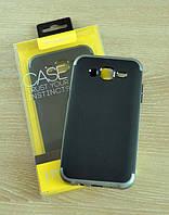 Мягкий черно-серый чехол-накладка IPAKY Carbon для Samsung Galaxy J5 , фото 1