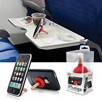 Универсальная Подставка-вантуз iPlunge для Iphone, Ipad, смартфонов и планшетов