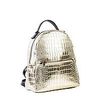 Сумка-рюкзак женская кожаная Daro 4439 золот. кож., фото 1