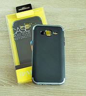 Мягкий черно-синий чехол-накладка IPAKY Carbon для Samsung Galaxy J5