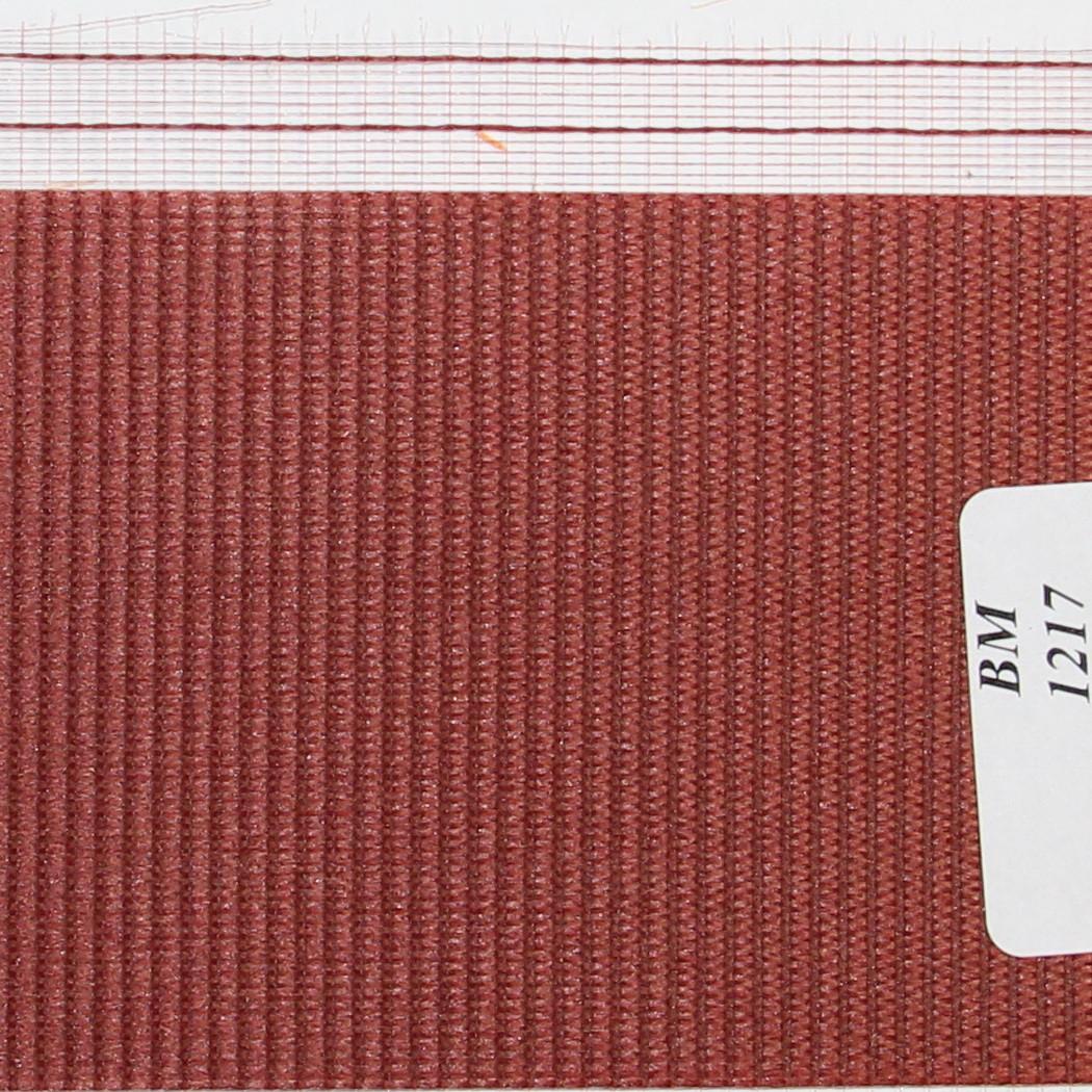 Рулонні штори День-Ніч Тканина Веселка ВМ-1217 Бордо