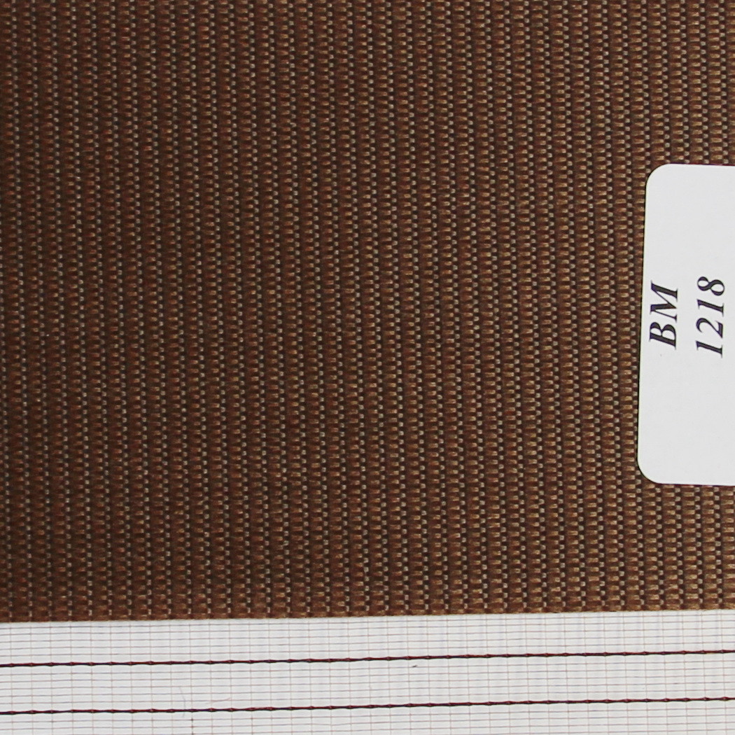 Рулонные шторы День-Ночь Ткань Радуга ВМ-1218 Шоколад