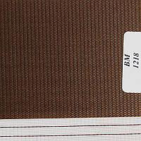 Рулонні штори День-Ніч Тканина Веселка ВМ-1218 Шоколад