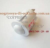 """Кнопка света для газ. плиты """"Гефест"""" (""""GEFEST"""")(белая- круглая) (2 контакта). код сайта: 7054"""