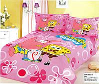 Стильное постельное белье губка боб для девочек