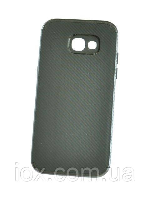 Мягкий черный чехол-накладка IPAKY Carbon для Samsung Galaxy A7 (A720)