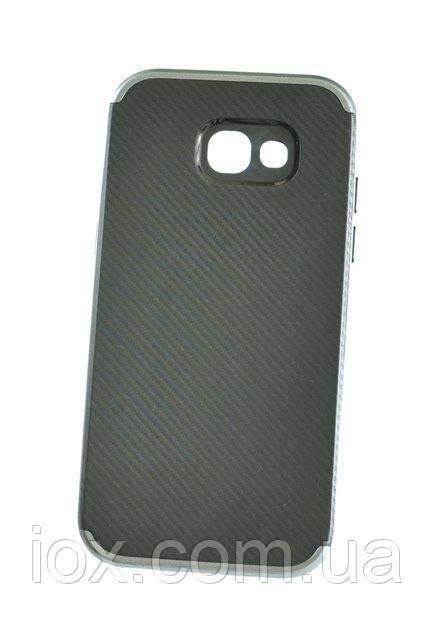 М'який чорно-сірий чохол-накладка IPAKY Carbon для Samsung Galaxy A7 (A720)