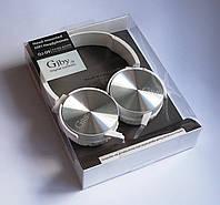 Наушники проводные с микрофоном гарнитура Gjby GJ-09, White-Silver