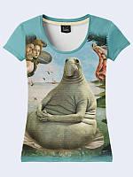 """3Д футболка с изображением популярного интернет-мема """"Ждун""""(""""Почекун""""). Отличный вариант для стильных и модных"""