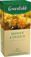 Чай Гринфилд Honey Linden черный  с липой и медом 25 пакетов по 1.5г
