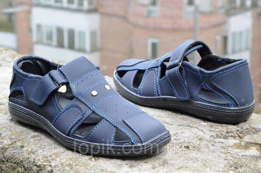 Мужские босоножки, сандали темно синие летние удобные прошиты Львов 2017 - Topik – распродажа обуви! в Хмельницком