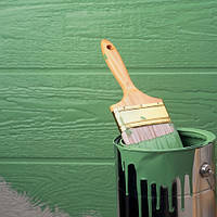 Покраска металлического гаража в Киеве.