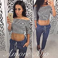 Женские стильные джинсовые брюки (2 цвета)