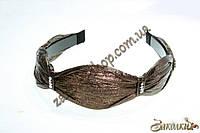 Обруч для волос пластиковый обтянутый с камушками, 1 штука