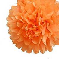 Купить бумажный помпон для оформления, 35 см. оранжевый