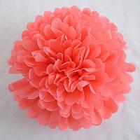 Купить бумажный помпон для оформления, 35 см. коралловый