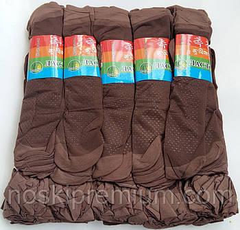Носки женские капрон рулон, пучок с тормозами Ласточка, 23-25 размер, мокко - шоколад, 1300