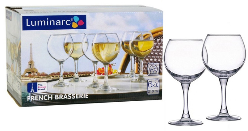 Набор бокалов для вина Luminarc French Brasserie 280мл 6шт