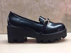 Туфли женские осенние тракторная подошва 36р.