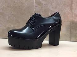 Туфли женские ботильоны на шнуровке