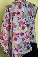 Хлопковый шарфик с цветочным принтом