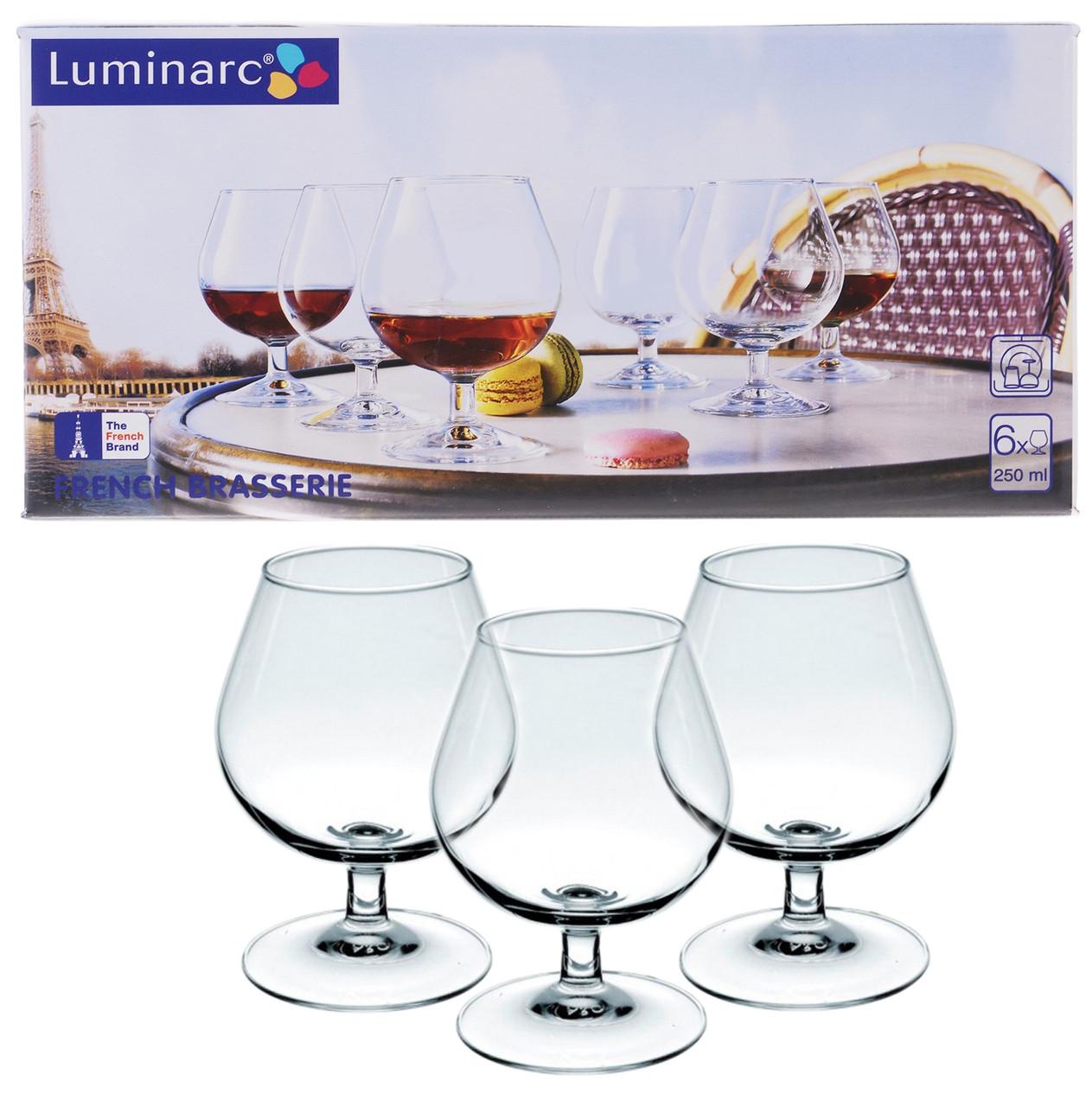 Набір келихів для коньяку Luminarc French Brasserie 250мл 6шт