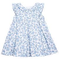 """Платье """"Розы"""" InComer (голубое, короткое)"""