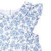 """Платье """"Розы"""" InComer (голубое, короткое), фото 2"""