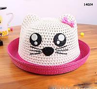 """Шляпа """"Котик"""" для девочки. 52 см"""