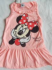 Платье летнее на девочку Микки Маус на 4- 5 лет Хлопок