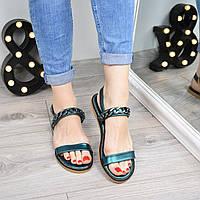 Босоножки женские Steel зеленые 3324, летняя обувь