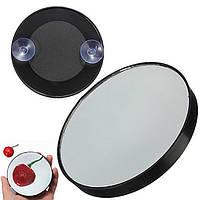 Зеркало-лупа увеличительное косметическое на присосках (5-кратное увеличение), диаметр 86 мм