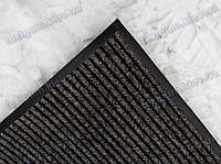 """Грязезащитный ковер 120*200см. на резиновой основе """"Рубчик"""", цвет коричневый"""