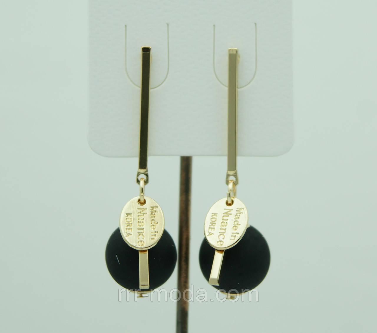 Необычные серьги гвоздики с матовыми шариками 3071
