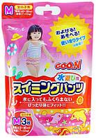 Трусики-подгузники для плавания Goo.N для девочек 7-12 кг, ростом 60-80 см (размер M, 3 шт)