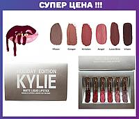 Набор жидких матовых помад Kylie Holiday Edition 6 шт.
