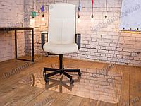 Ковер под кресло для защиты пола прозрачный 90х125см. Толщина 0,8мм