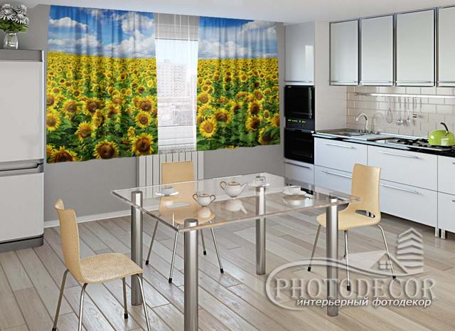ФотоШтора для кухни 2,0м*2,9м (карниз 2,9м)