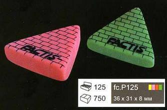 Ластик Factis P125 треугольный цветной