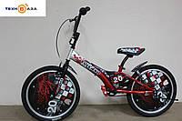 """Велосипед детский 20"""" FORMULA VOLCANO красно-черный"""