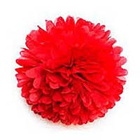 Купить бумажный помпон для оформления, 35 см. красный
