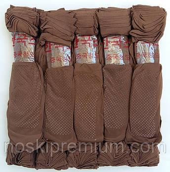 Носки женские капрон рулон, пучок с тормозами Иероглиф, 23-25 размер, мокко - шоколад, 02680