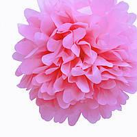 Купить бумажный помпон для оформления, 35 см. розовый
