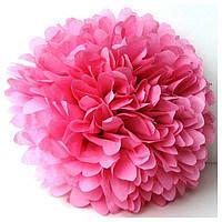 Купить бумажный помпон для оформления, 35 см. пудровая роза