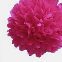 Купить бумажный помпон для оформления, 35 см.  светлая вишня