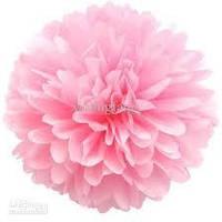Купить бумажный помпон для оформления, 35 см. нежно - розовый