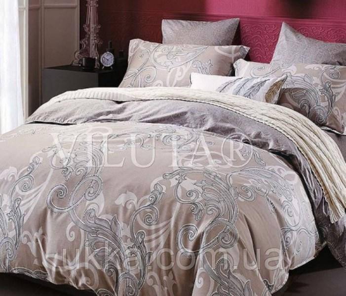 Двуспальное постельное белье ранфорс Вилюта 12658