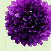 Купить бумажный помпон для оформления, 35 см. фиолетовый